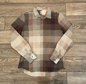Mens Paul Smith Mainline Check L/S Shirt Grey (Made in Italy) Medium