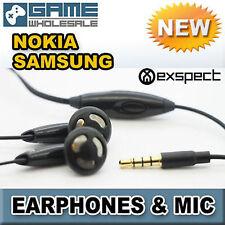 Universal auriculares con micrófono Micrófono 3.5 mm Manos Libre De Teléfono Móvil Negro V1
