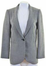 HOBBS Womens Peplum Blazer Jacket UK 10 Small Grey Wool  HV14