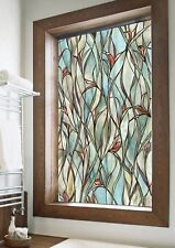 """Textured Stained Glass Art Privacy Window Film Uv Protect Home Decor 24"""" X 36"""""""