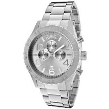 Invicta 50mm Specialty Chronograph Silver Dial Stainless Steel Men's Watch-1269
