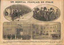 Hôpital Croix Rouge Français Italie Louis Barthou & Salvatore Barzilai WWI 1916