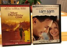 What Dreams May Come and I Am Sam Dvd Lot