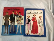 Ronald and Nancy Reagan Paper Dolls Books by Tom Tierney Vintage 1984 Unused New