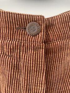 Beautiful 90's Vintage Chanel Cashmere Mix Cordroy Trousers Size 42