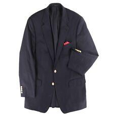 Polo Ralph Lauren Men's Navy Blue Sport Coat Jacket Blazer Gold Btn Size 42 S