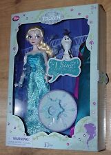 Disney Store Elsa Frozen Feature Doll Singing light-up snow flake olaf + dress