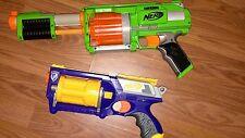 lot of 2 Nerf Guns 1- Dart Tag and 1 Maverick Rev -6 no Bullets