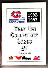 92/93 FREDERICTON CANADIENS TEAM SET