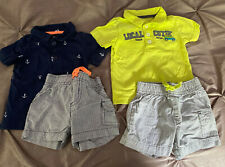 Lot Of 2 Carter's Baby Boy 6 Month Summer Short Outfits Size 6 Months