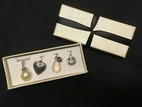 CHRISTMAS GIFT - AVON INTERCHANGEABLE STERLING SILVER PLATE NECKLACE 4 PENDANTS