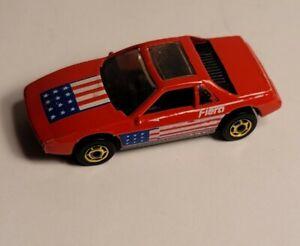 1985 HOT WHEELS PONTIAC FIERO W/ GOLD HOT ONES AMERICAN FLAG CLEAN LOOSE