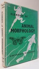 Elements of Animal Morphology Gwynneth Buchanan natural history biology book hbk