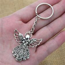 Antique Silver Plated Big Guardian Angel Pendant Key Chain Jewelry Key Rings 1PC