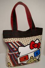 Loungefly HELLO KITTY 3D Movie Canvas TOTE Bag Popcorn 3D Glasses Purse HTF