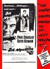 JOE MACBETH pressbook, Paul Douglas, Ruth Roman, Bonar Colleano, FILM NOIR