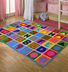 5x8  ABC Area RUG Kids  School  Educational Alphabet & Numbers Colorful Play New