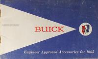1965 Buick Accessories Sales Catalog Riviera Skylark LeSabre Electra GS Brochure
