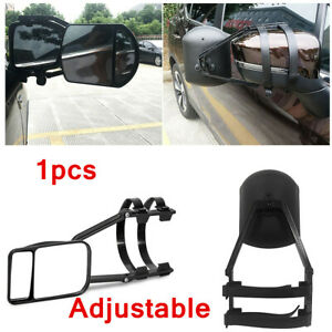 Universal Clip-on Towing Mirror Adjustable Extension Rearview For Car Truck Van