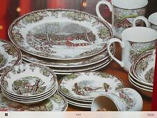 Johnson Bros- The Friendly Village Winter Collection 28 Piece Dish Set