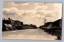 Lonsdale Minnesota MN Street Scene Hamms Shell Real Photo Postcard RPPC 1930-50