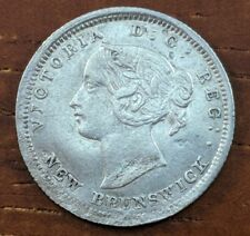 1864 SM6 New Brunswick Canada 5 Cent Silver Half Dime Coin Collection Brk Lot F3