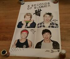 5 Seconds Of Summer Pop Rock Music Poster 2014 Squares Trends Cute Boys White