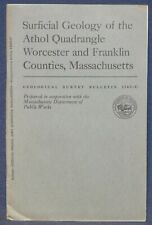 Usgs Massachusetts Geology of the Athol Quad, With Two Maps! 1966 Nice!