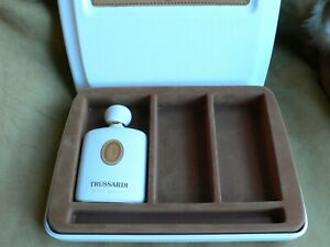 Genuine TRUSSARDI empty perfume box white with a fabric bag Authentic Vintage
