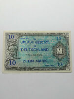 Germany Allied Military Currency - 10 Mark - 1944 Really Fine Condition