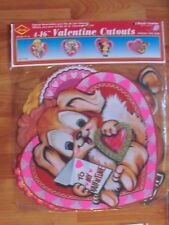 """Valentines Heart Diecut Cutouts 1990 Beistle Four Pack of 16"""" Decoration Nos"""