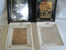 RARE HIGHLAND MINT LE MICKEY MANTLE BRONZE SILVER GOLD BASEBALL CARD SET - #11