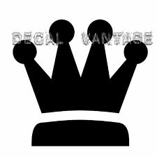 King Crown Vinyl Sticker Decal Chess Queen - Choose Size & Color