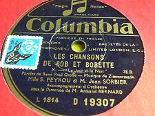 78 trs-rpm-Les chansons de Bob et Bobette- IX et X- COLUMBIA D 19307