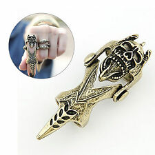 New Antique Retro Rock Hinged Armor Skull Knuckle Punk Goth Finger Joint Ring