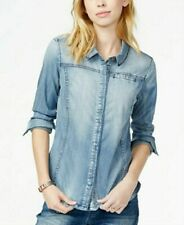 VTG Guess Womens Denim Button Shirt Long-Sleeve Small ORG $89 NWT
