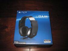 Sony PS3 Pulse Wireless Stereo Headset 7.1 Virtual Surround Sound Headphones USB
