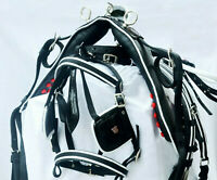 NEW STRONG WEBBING HORSE HARNESS SET FOR SINGLE HORSE BLACK COLOUR