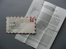 USA, spec. flight cover 1961, 10.000th Atlantic Barrier Flight