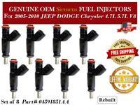 Set of 8 MOSTPLUS Fuel Injectors 04591851AA 812-11132 for Dodge Daytona Jeep Commander 2006-2007