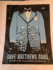 Dave Matthews Band Hollywood Bowl 2007 Poster By Methane Mint LE