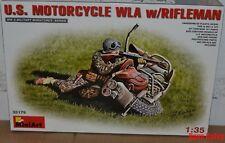 Miniart 35179 1:35th U.S. Motorcycle C/W Rifleman Harley-Davidson WLA