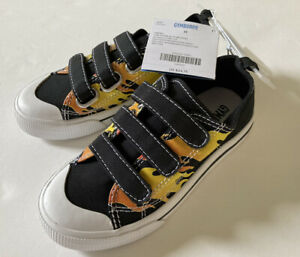 NWT Gymboree Built for Speed Sz 11 Black Flames Toddler Sneakers for about 5T