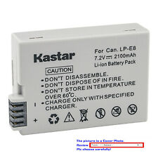 Kastar Replacement Battery for Canon LP-E8 LPE8 Battery & LC-E8 LC-E8E Charger