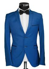 Slim Fit Herren Sakko Hell Blau Steigendes Rever-Anzug-Hochzeit-Blazer-Smoking
