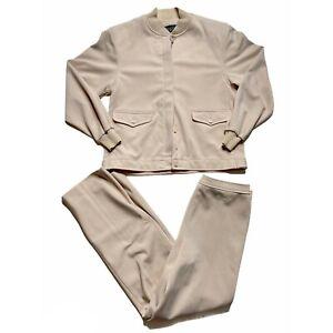Givenchy Sport Matching Jacket and Pants Set Tan 10/12 Vintage