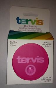 Tervis 10 Ounce (Oz) Straw Lid for 10 Oz Wavy Tumbler - Passion Pink NEW