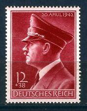 DR Nazi 3rd Reich Rare WW2 WWII Stamp** Hitler Fuhrer Head Birthday Nazi Uniform