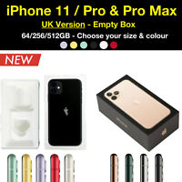 Apple iPhone 11, Pro and Pro Max UK Empty Box - All Colours, 64/128/256/512 GB