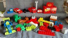 Gros lot divers et variés LEGO DUPLO cars voiture de course blocks arbre fleurs